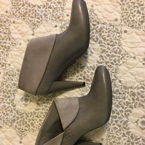 Coach Annika Ankle Boots - Gray, size 8